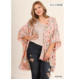 Umgee Floral Print Kimono