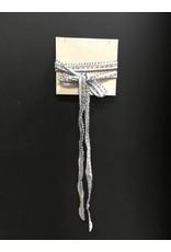 Chan Luu Triple Beaded Chiffon Necktie