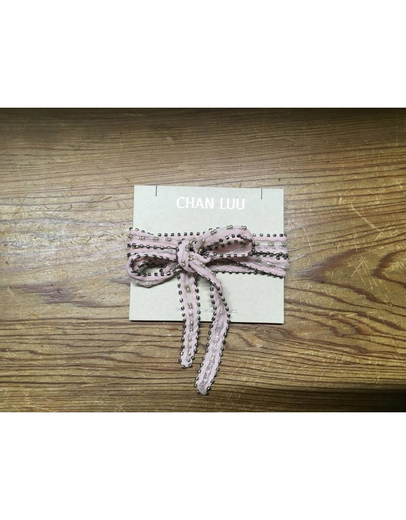 Chan Luu Triple Beaded Chiffon Necktie