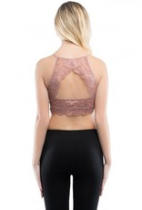 BY TOGETHER High Neck Lace Bralette