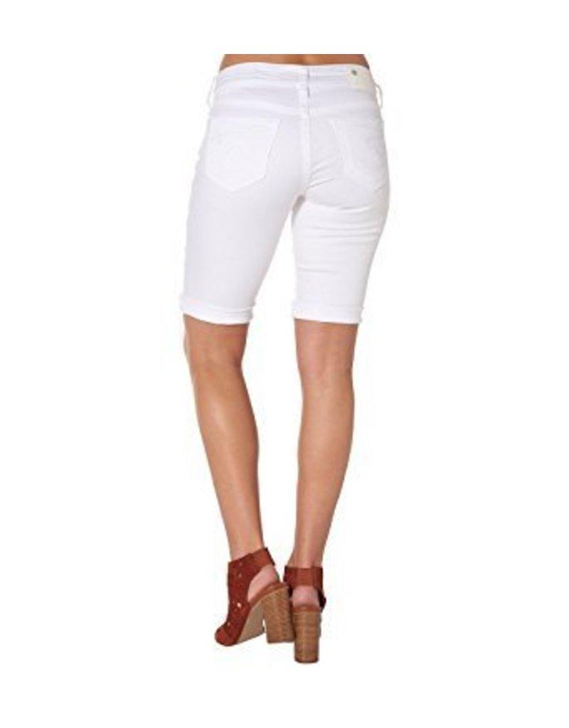 Silver Jeans L53934SSWWHT Suki Bermuda White