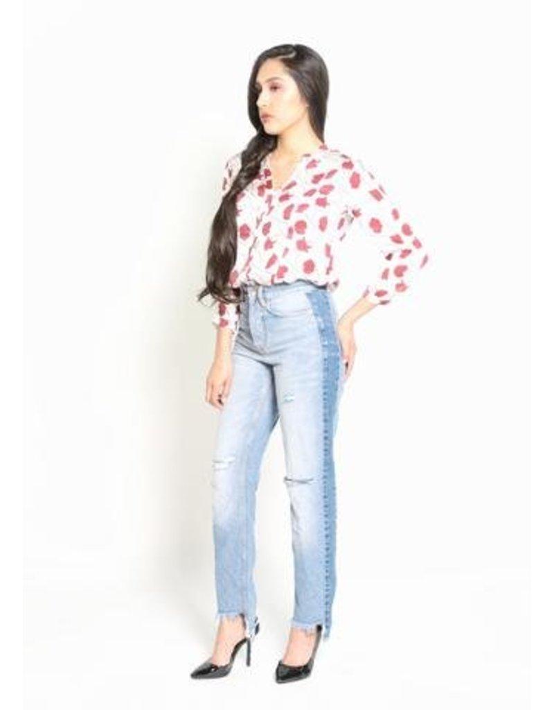Symbology Clothing Poppy Flower Silk Blouse