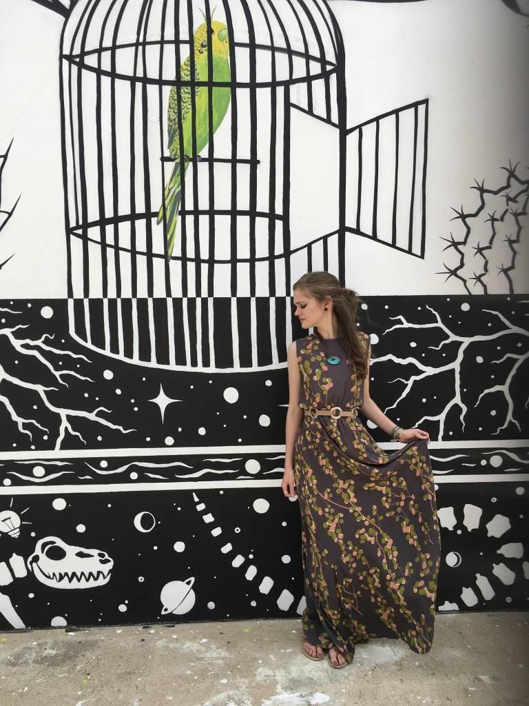 Bel Kazan Singapore Maxi w/Floral Print