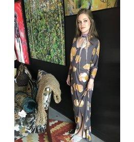 Bel Kazan Positano Maxi Dress w/Floral Print