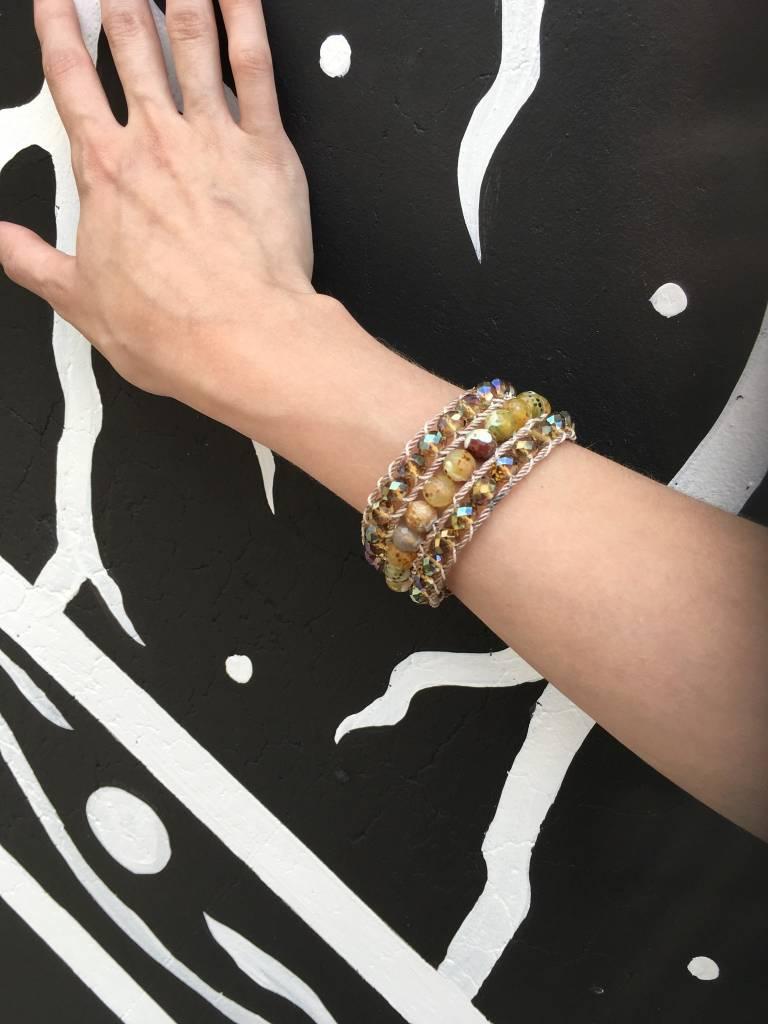 Elysian Designs Agate Cuff w/Button