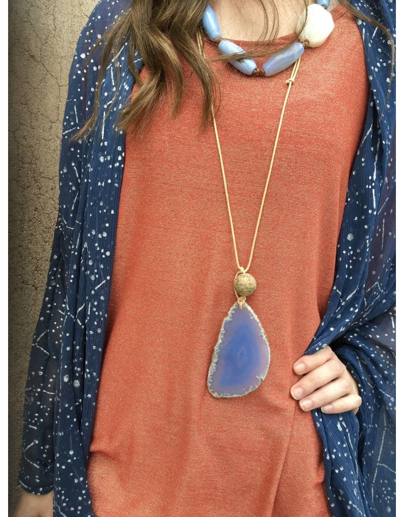 Tres Chicas Knotted Leather Necklace