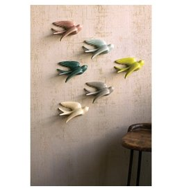 Kalalou Ceramic Flying Swallow Birds