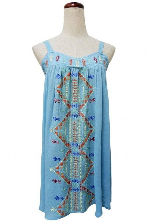 Young Essence Sleeveless Embroidered Dress