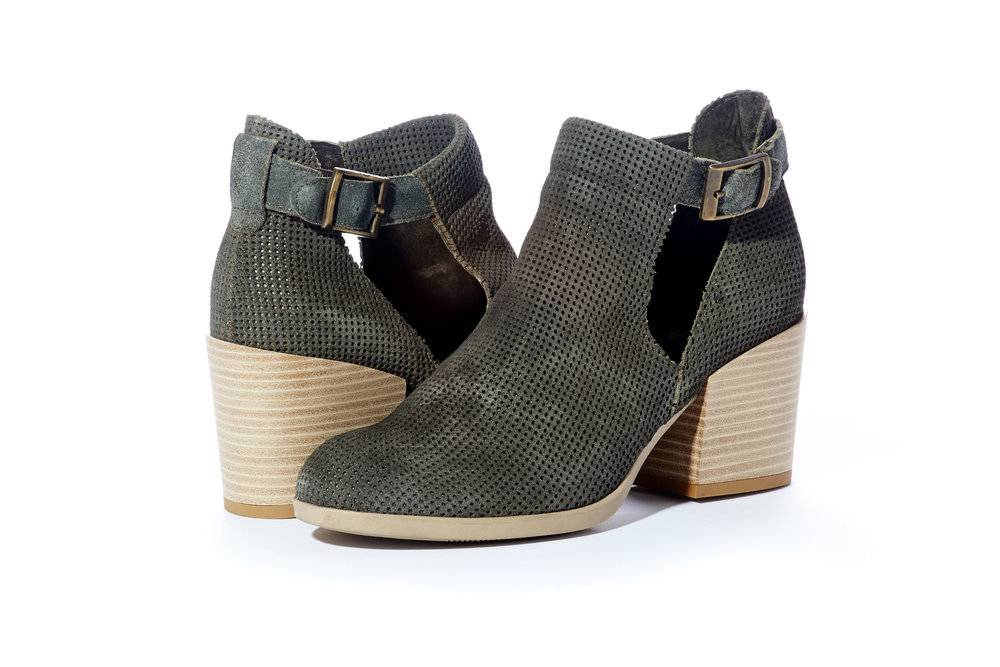 Rebel With Cause Heeled Bootie w/Side Cut-Outs