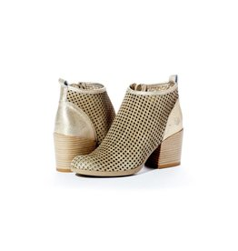 Rebel With Cause Metallic Mesh Bootie