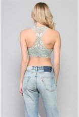 BY TOGETHER 2 Tone Lace Racerback Bralette
