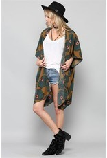 BY TOGETHER Long Floral Open Cardigan