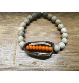 Holly Zaves Wood Bracelet w/Colored Beads