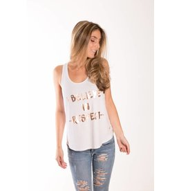 "Words Count ""I Believe in Respect"" Racerback Tank"