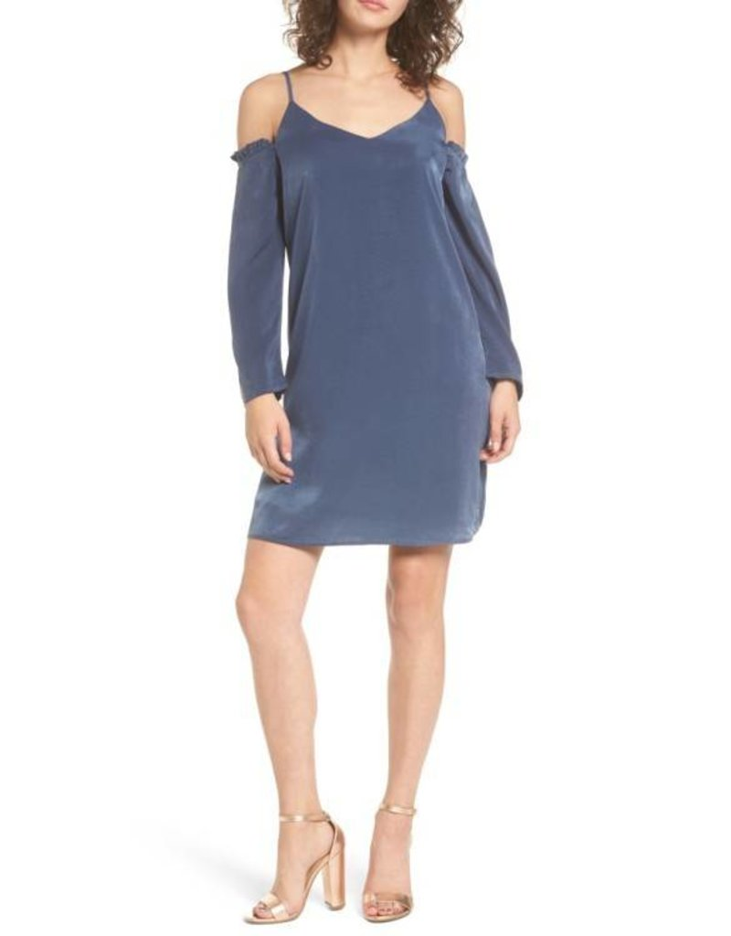 Everly Ruffled Cold Shoulder Shift Dress