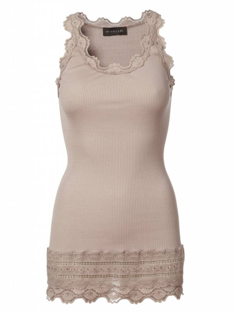 Rosemunde Lace Trimmed Fitted Tank
