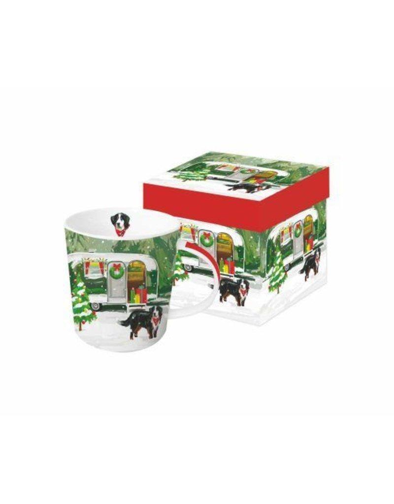 Paperproducts Design Christmas Trailer Boxed Mug