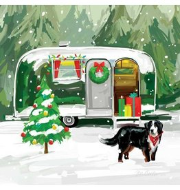 Paperproducts Design Christmas Trailer Napkins