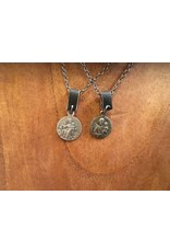 Vintage Religious Medal Necklace