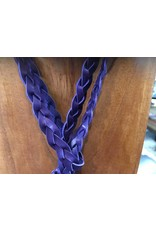 TCU Braided Leather Horned Frog Necklace