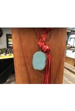 Red Braided Leather w/TQ Charm