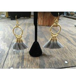 Holly Zaves Gold/Grey Tassel Earrings