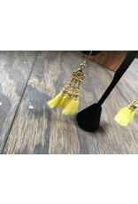 Holly Zaves Gold/Yellow Tassel Earrings