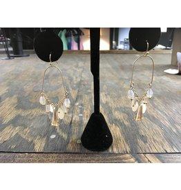 Wire Earrings w/Bead Charms