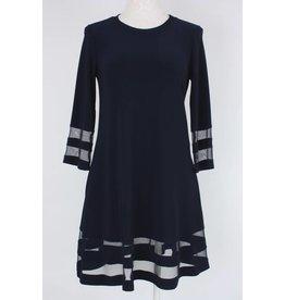 Joseph Ribkoff 3/4 Sleeve Dress w/Sheer Sleeve & Hem Details