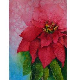 Elaine Jary Art Poinsettia Print