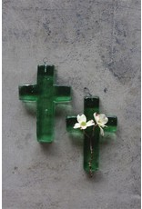 Creative Co-Op Recycled Glass Hanging Cross