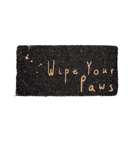 "Creative Co-Op ""Wipe Your Paws"" Doormat"