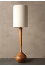 "Creative Co-Op Oak Wood Floor Lamp w/Linen Shade (65.5""H)"