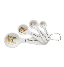 Creative Co-Op Farm Animals Measuring Spoons