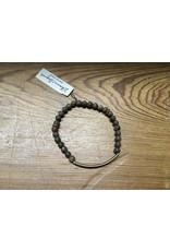 Men's Brown/Copper Bar Bracelet
