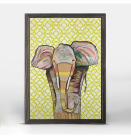 Greenbox Trendy Trunk Elephant Framed Canvas 5X7
