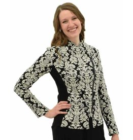 Joseph Ribkoff Printed Asymmetrical Zip Fitted Jacket