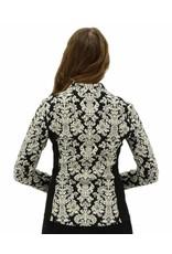Joseph Ribkoff Printed Asymmetrical Zip Fitted Jacket