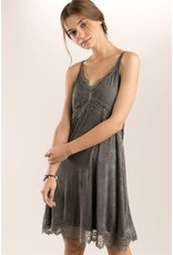 POL Clothing Lace Detailed Cami Slip Dress