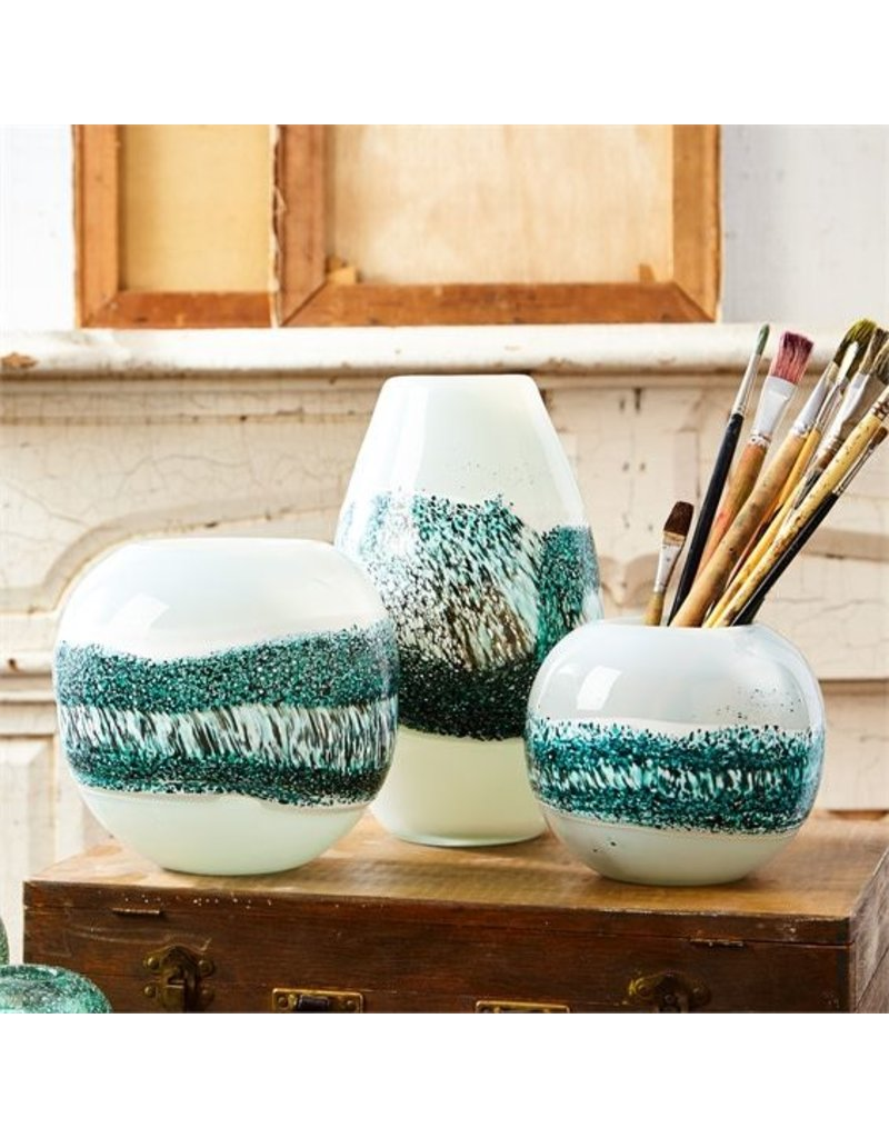 Two's Company Layered Striped Vase