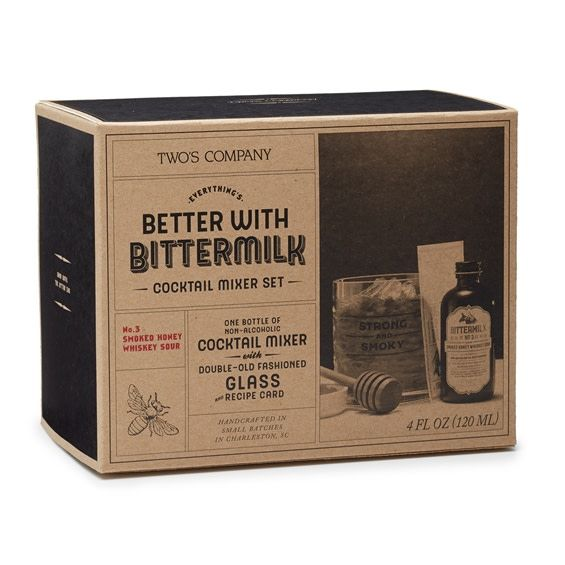 Two's Company Bittermilk Drink Mix & Old Fashioned Glass