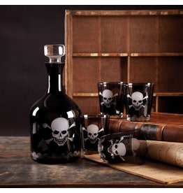 Two's Company Skellington Skull & Crossbones Drinkware