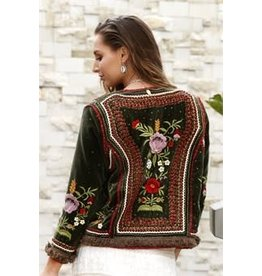 Ruby Ya Ya Matador Beaded Suede Jacket