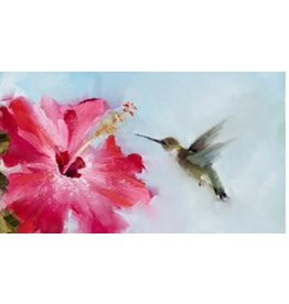 Tea Towel Hummingbird & Hibiscus