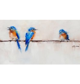 Tea Towel Bluebird Trio