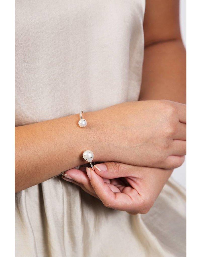 Chan Luu Ivory Pearl Sterling Silver Cuff