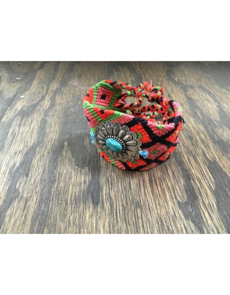 Woven Bracelet w/ TQ Concho