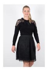 Molly Bracken Lined Lace Skirt w/Wide Waist Band