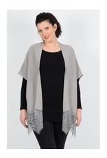 Molly Bracken Sweater Kimono w/Lace Hem