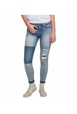 Silver Jeans Aiko Colorblock Ankle Skinny Jean